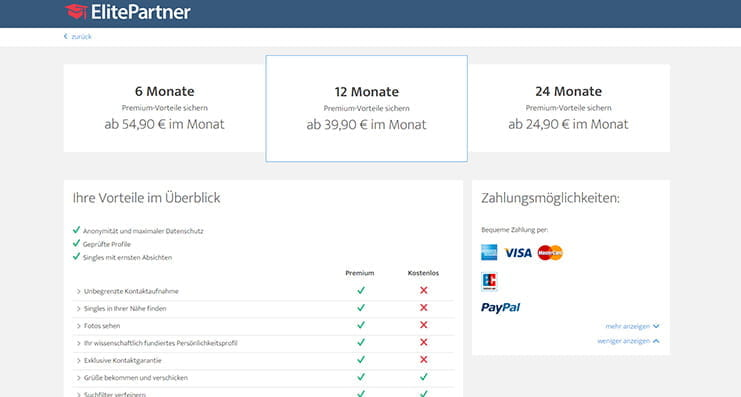 elitepartner kosten unter 30