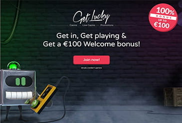Homepage vom Get Lucky Casino
