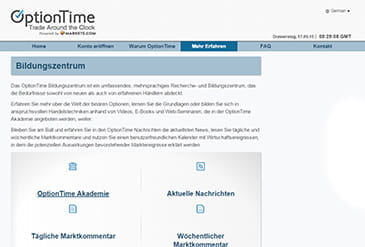 OptionTime Vorschaubild Akademie