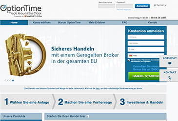 Vorschaubild OptionTime Optionshandel