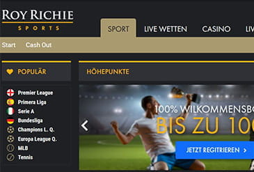 Homepage vom Roy Richie Casino