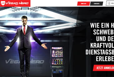 Preview: Homepage von Vegas Hero