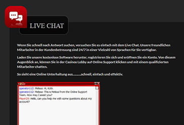 Vorschaubild Support 21nova Live Chat