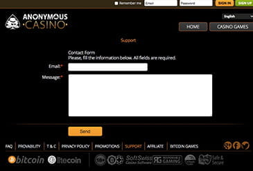 Vorschaubild Support Anonymous Casino