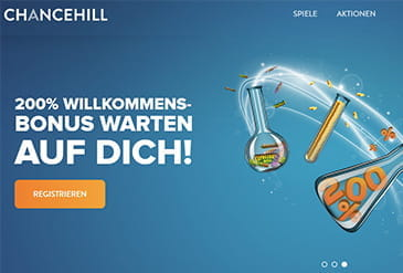 Homepage vom Chance Hill Casino