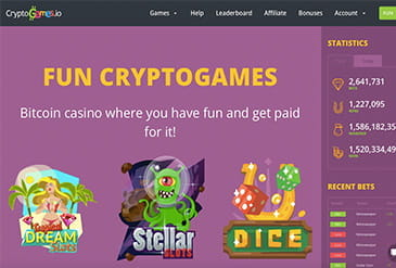 Homepage vom Cryptogames