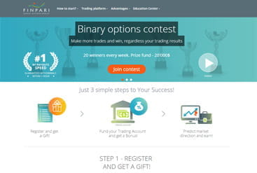 Finpari Startseite mit vielen Infos