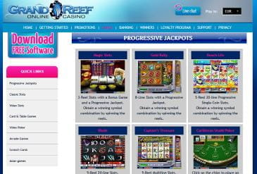 Vorschaubild Lobby Grand Reef Casino