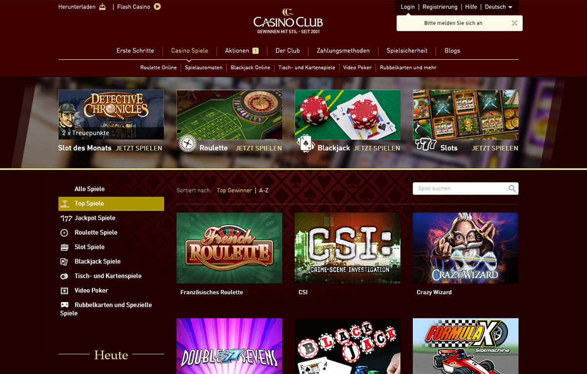 betrug casino club