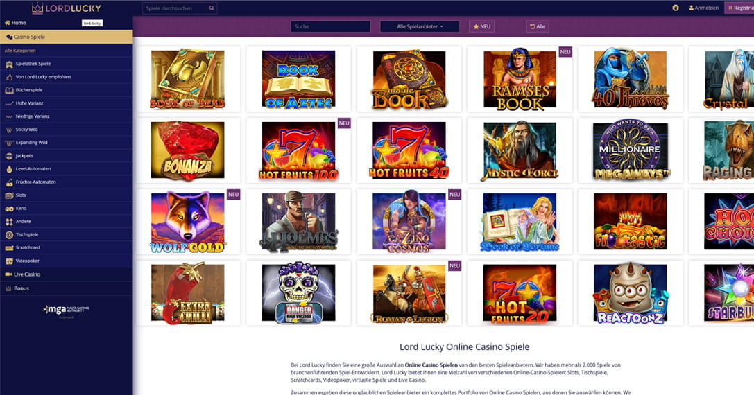 lll Lord Lucky Betrug oder nicht? +++ Test auf Betrugstest.com  lll Lord Lucky ...
