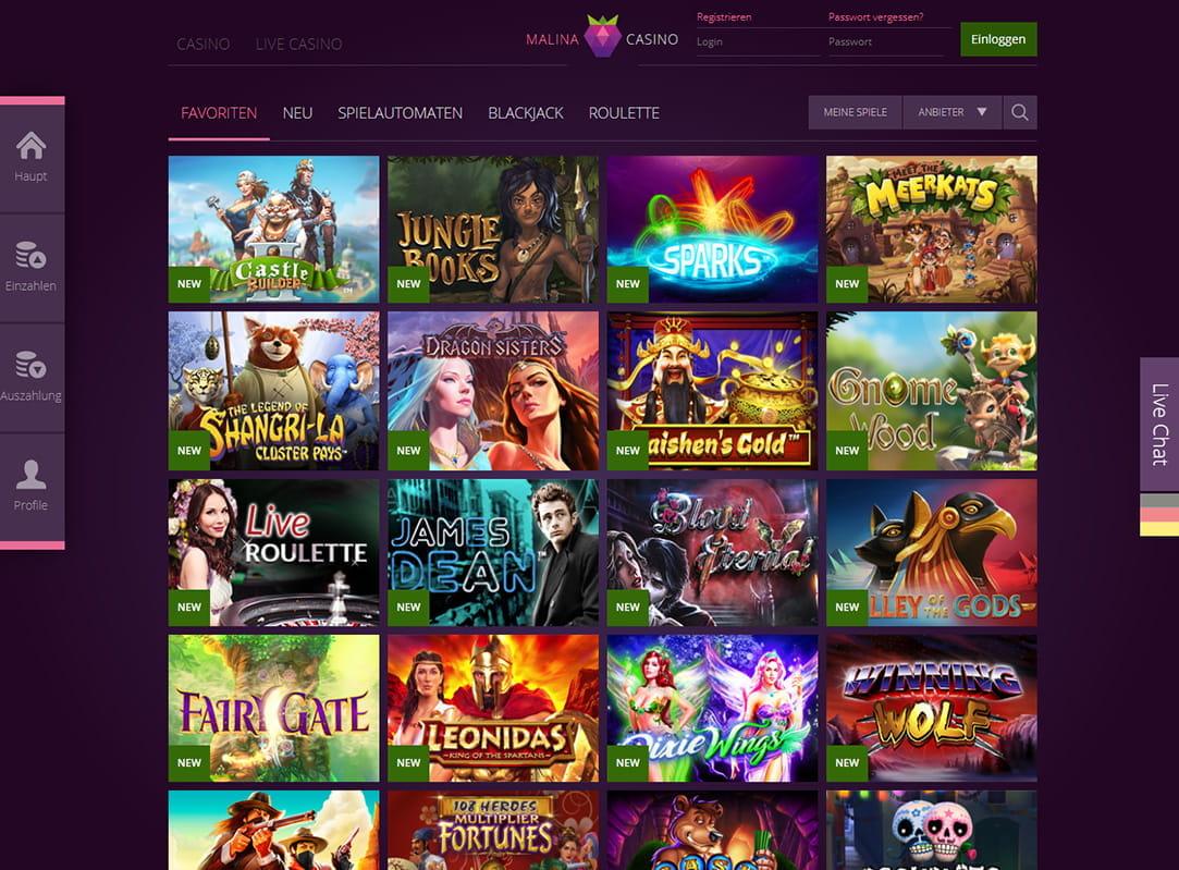 malina casino online
