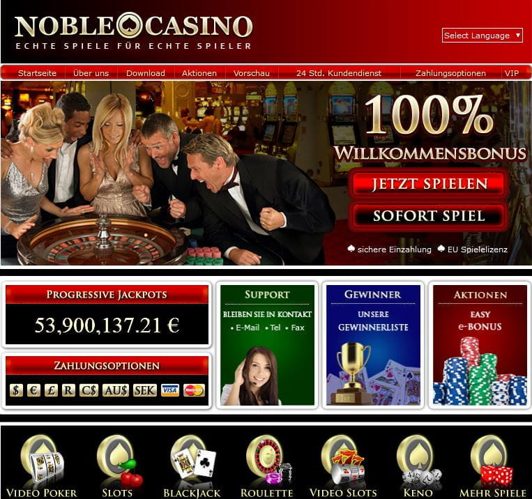 auszahlung bei noble casino