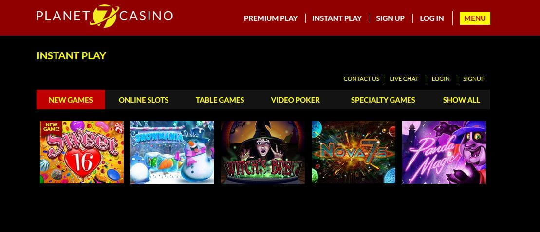www planet 7 casino lobby com