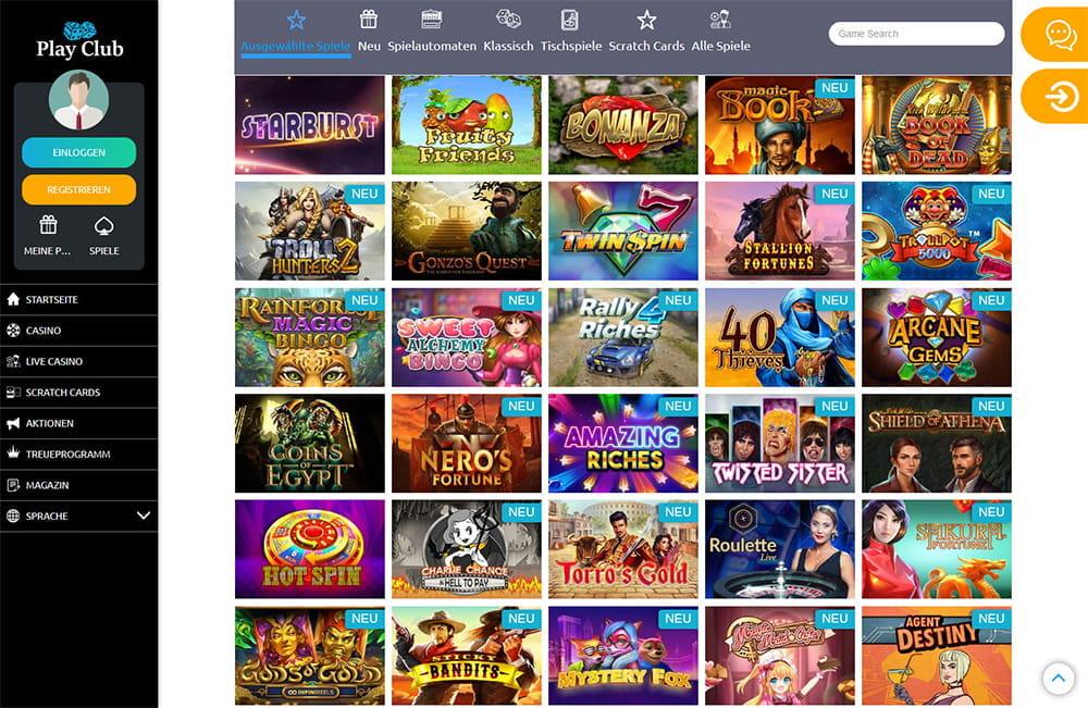 Online Casino Club Betrug