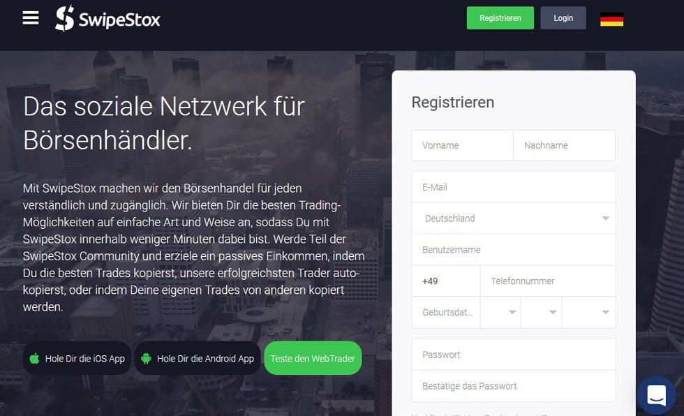handel binäre optionen swipestox broker erfahrungen online mobile social trading per app