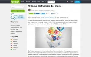 eToro Instrumente