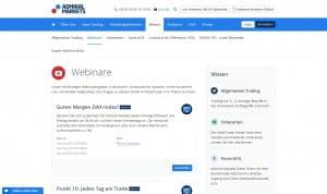 Admiral Markets Webinare