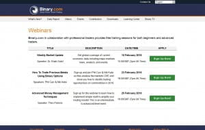 Binary.com Webinare