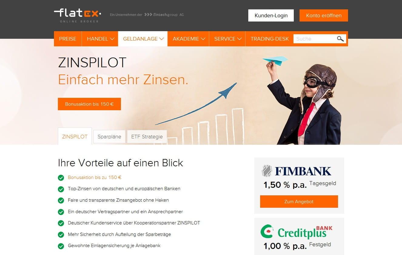 Zinspilot Flatex