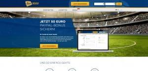 bet3000 50 Euro PayPal Bonus