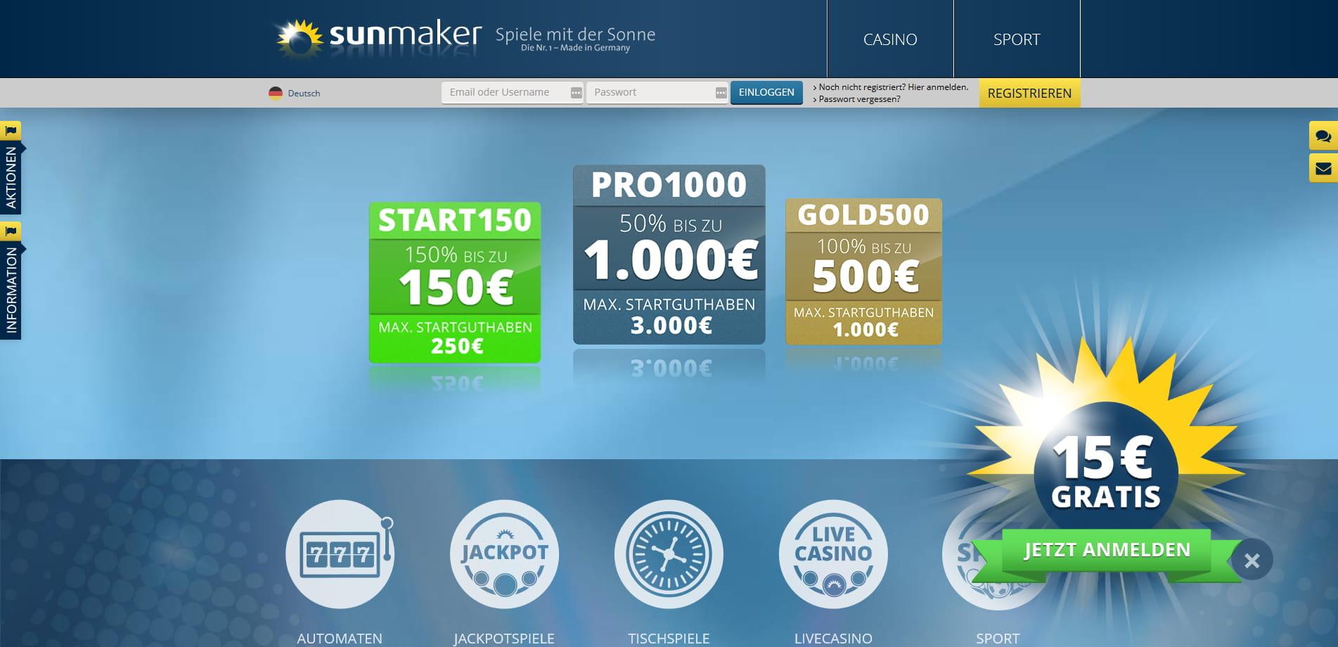 Casino 20 Euro Startguthaben