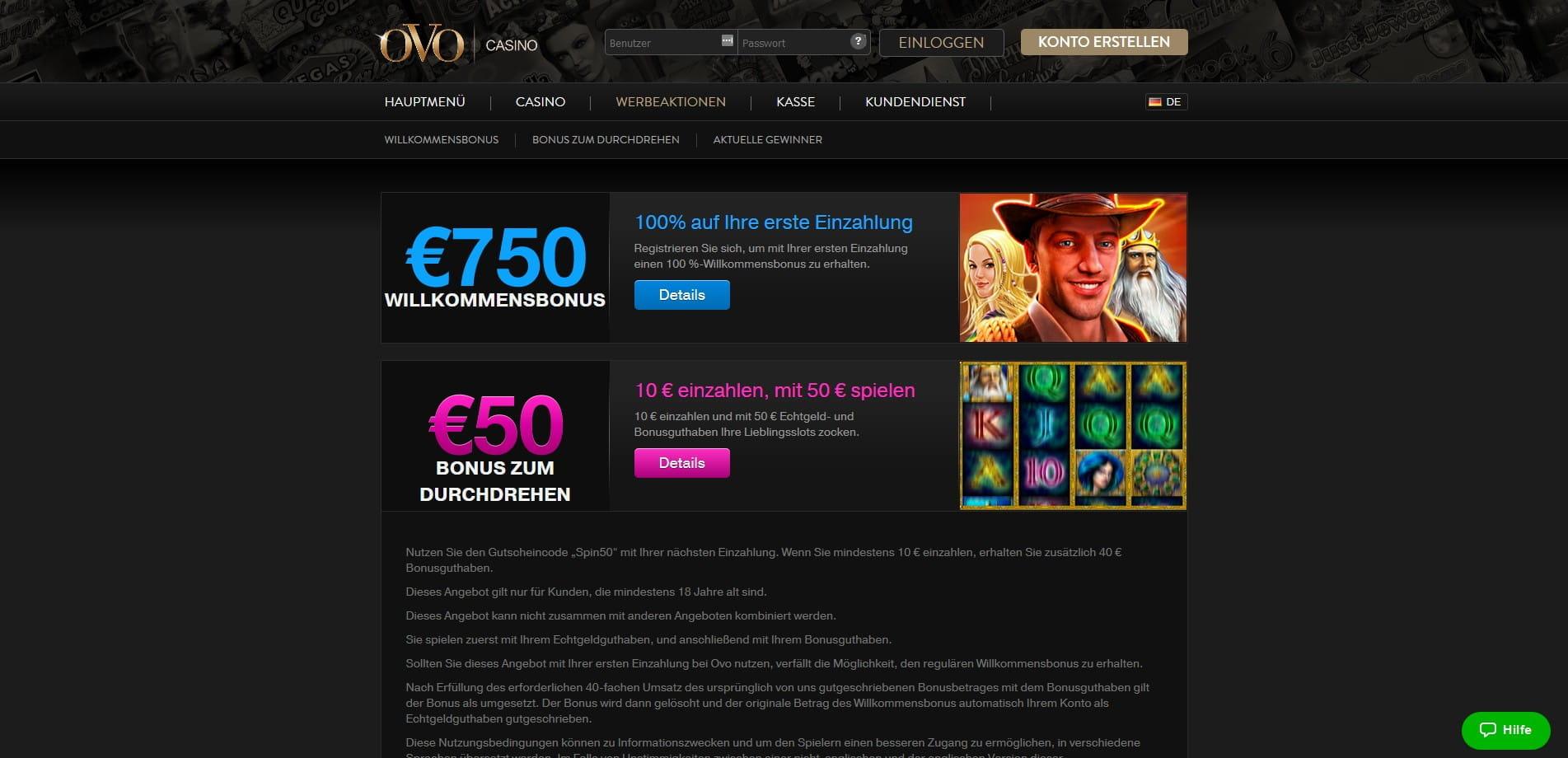10 Euro Einzahlen 50 Euro Spielen Casino