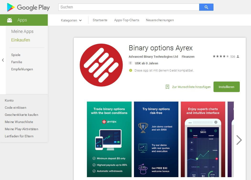 Gewinne auf binären Optionen von 1000 r pro Tag