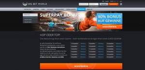 Big Bet World Superpay-Bonu