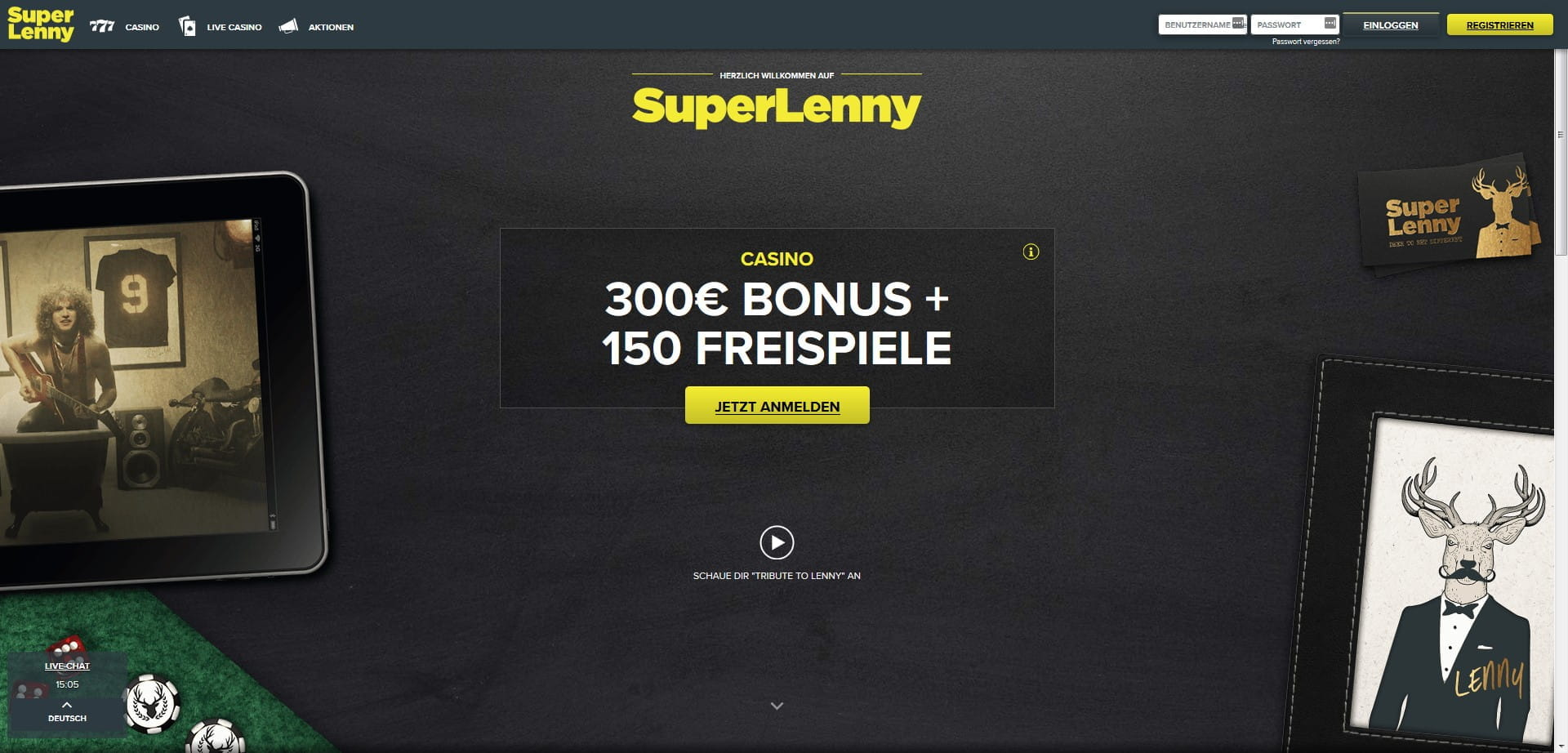 Superlenny welcome bonus