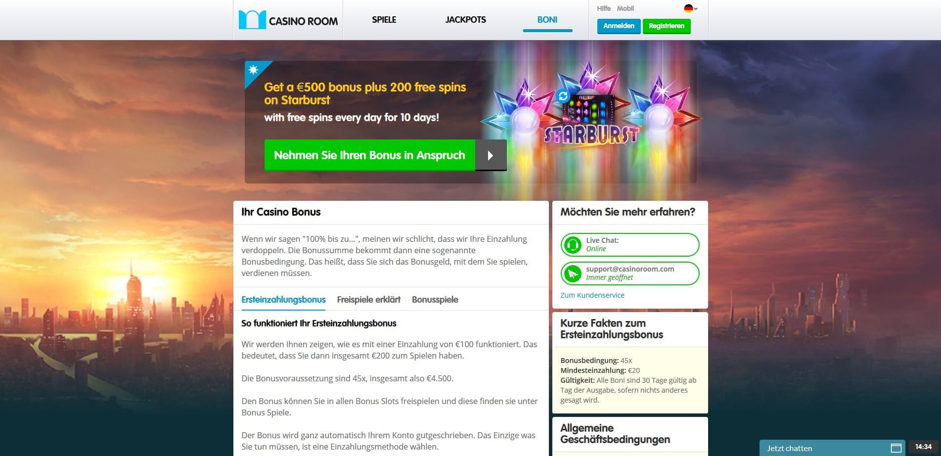 Bis zu € 350 Bonus und 100 Freispiele sichern