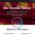Dunder Casino Willkommenspaket