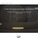 Webseite von BDswiss.
