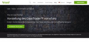 eToro Copy Trading Angebot
