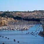 Hafenlandschaft auf Malta.