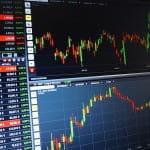 Aktienkurse auf Computer.