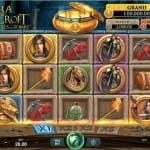 """Der Slot """"Lara Croft: Temples and Tombs"""" des Entwicklers Microgaming."""