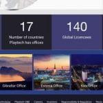 Homepage von Playtech.