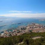 Luftaufnahme von Gibraltar und dem Hafen von Gibraltar.