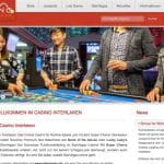 Die Webseite des Casinos Interlaken.