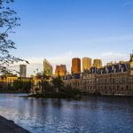 Das Zentrum der niederländischen Stadt Den Haag.
