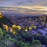 Die Stadt Granada in Andalusien.