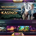 Die Webseite des Knossi-Casinos.