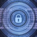 Digitales Schloss als Symbol für Internetsicherheit.