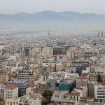 Die Stadt Athen aus der Luft.