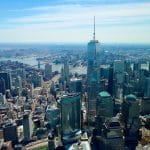 NYC Innenstadt aus der Luft.
