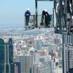 Bauarbeiten in der japanischen Stadt Osaka.