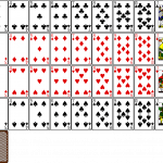 Aufgedecktes Kartenspiel.