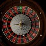 Roulette Rad von oben betrachtet.