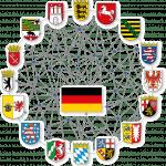 Alle Flaggen der deutschen Bundesländer im Kreis angeordnet.