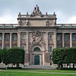 Das schwedische Parlament in Stockholm.